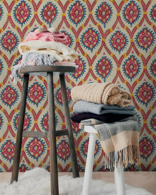 OTTOMAN Taupe Wallpaper