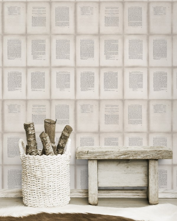 INSIDE BOOK Taupe Premium Wallpaper