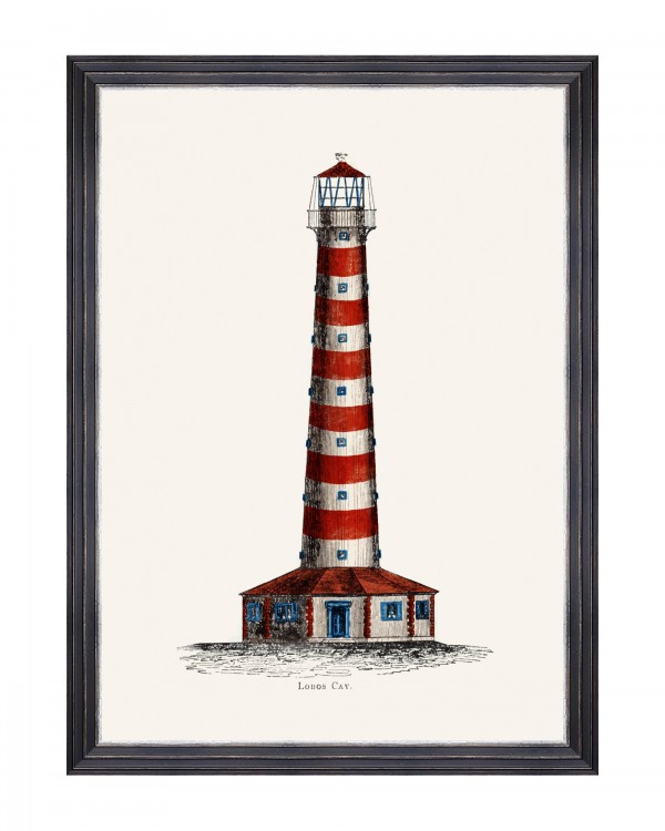 LIGHTHOUSE DRAWINGS I Framed Art