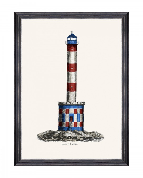 LIGHTHOUSE DRAWINGS IV Framed Art