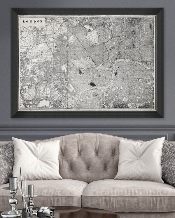 LONDON MAP Framed Art