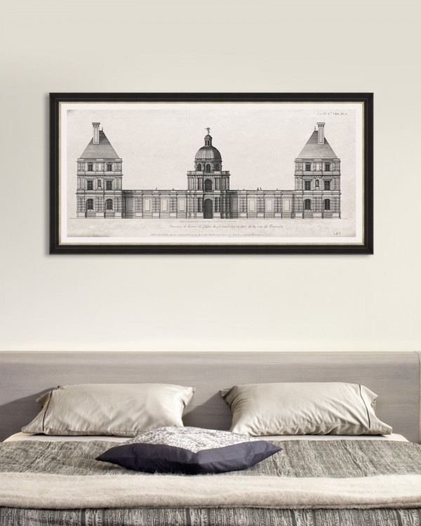 LUXEMBOURG PALAIS ELEVATION Framed Art
