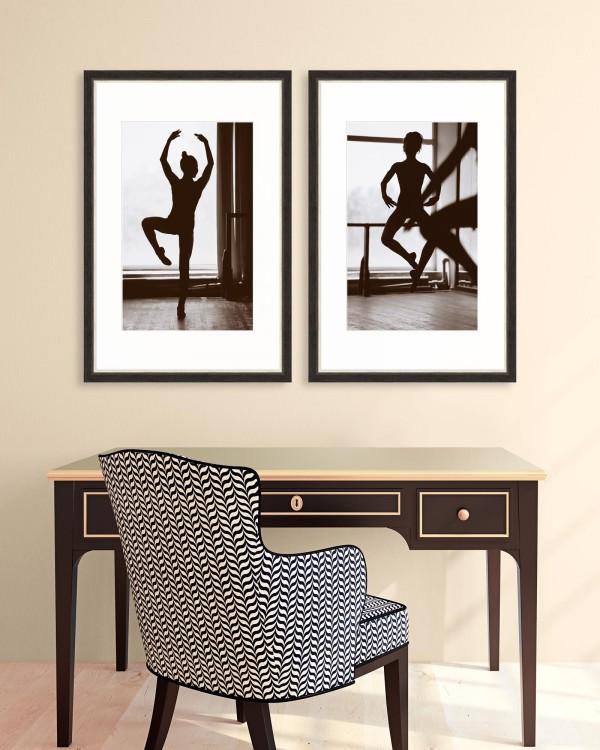 MOVEMENT Set of 2 Framed art