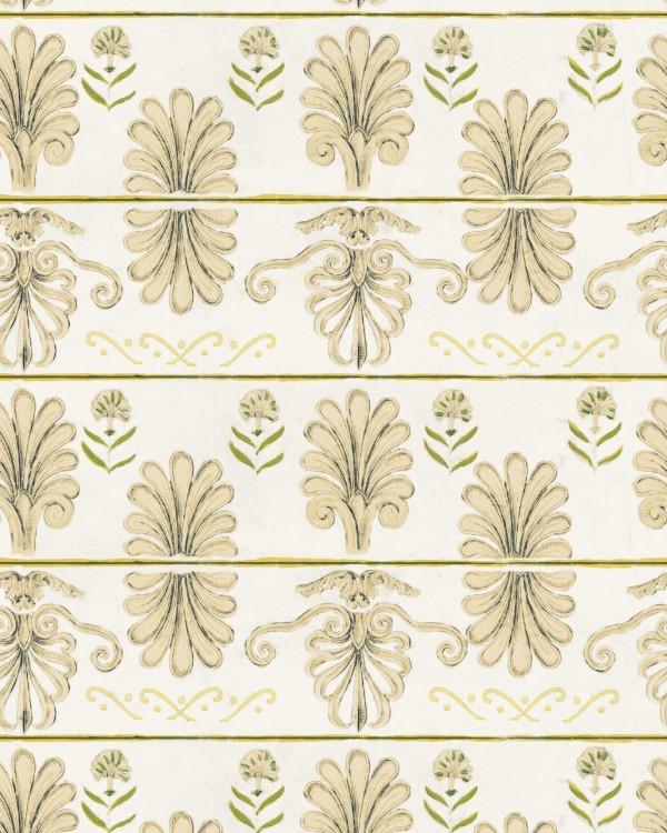 MYKONOS VILLA MOTIF Taupe Wallpaper