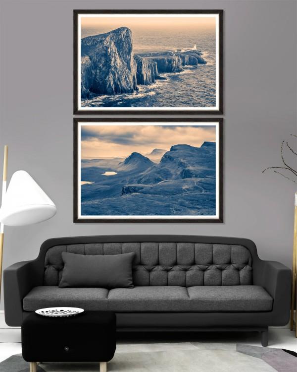 NORDIC SCENERY Set of 2 Framed art