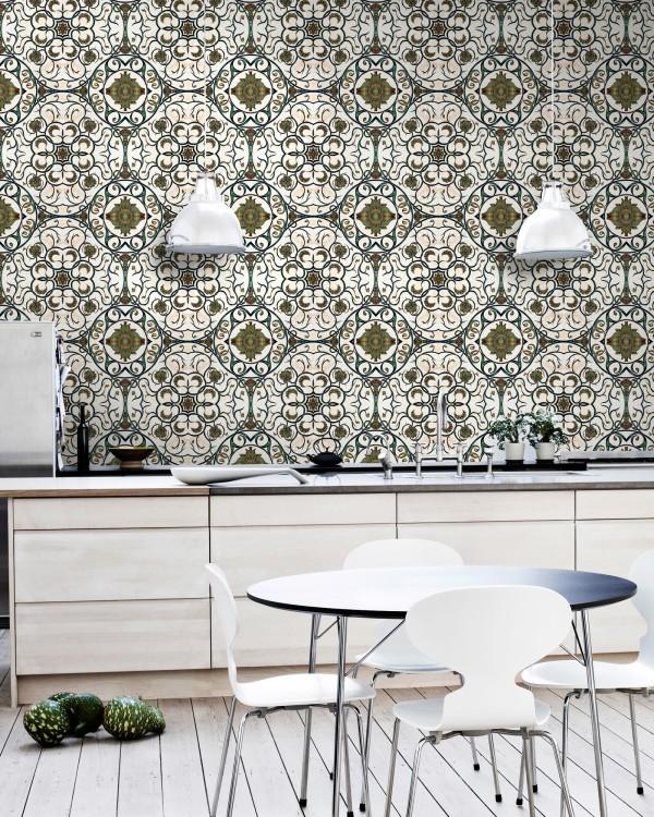 ORGANIC TILE Premium Wallpaper