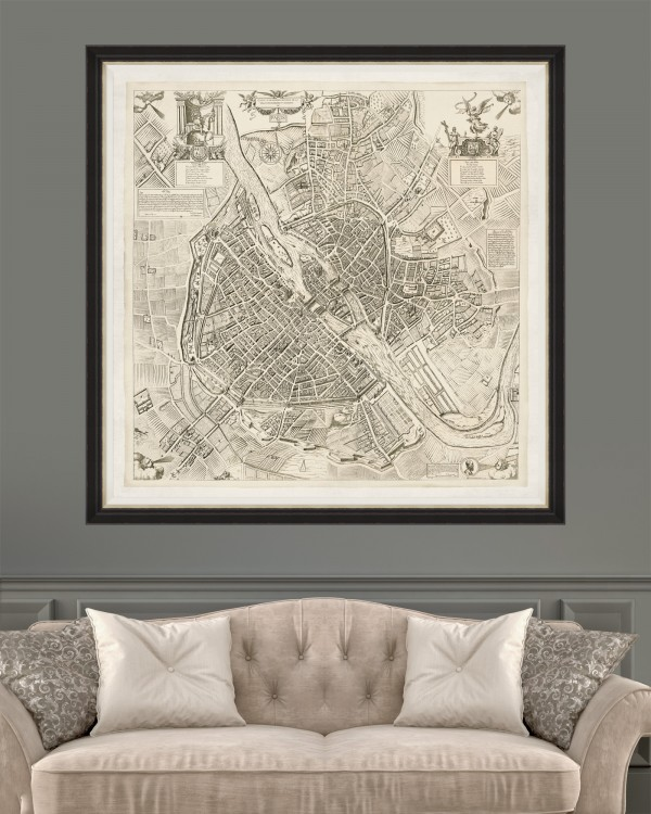 PARIS MAP 1609 Framed Art