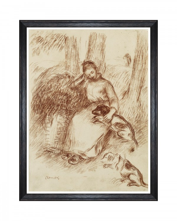 PEASANT GIRL BY RENOIR Framed Art