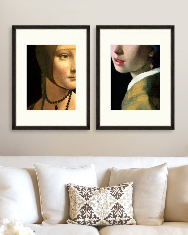 RENASCENTIST PORTRAIT DETAILS Set of 2 Framed art