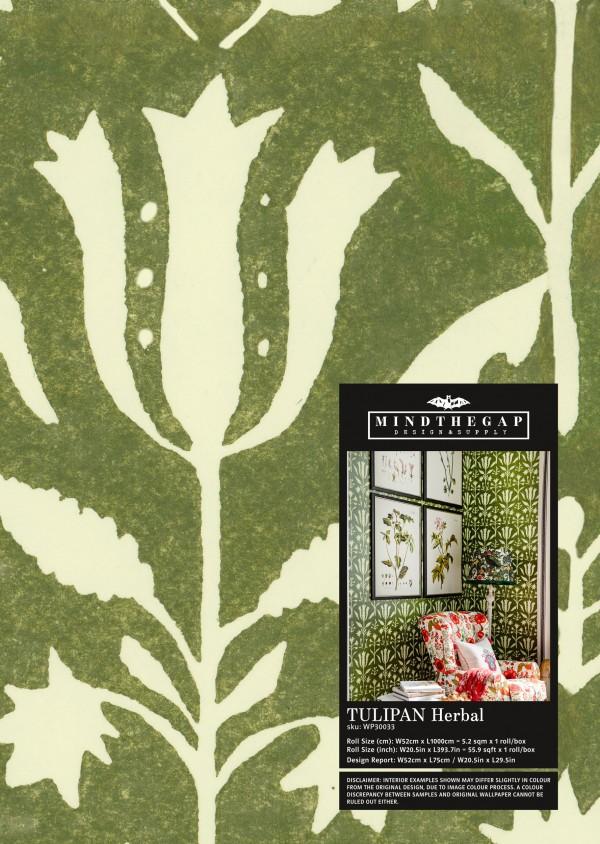TULIPAN Herbal Wallpaper Sample