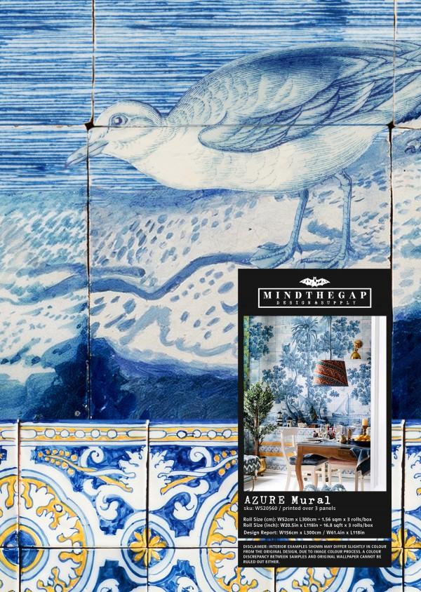 AZURE Mural Wallpaper Sample