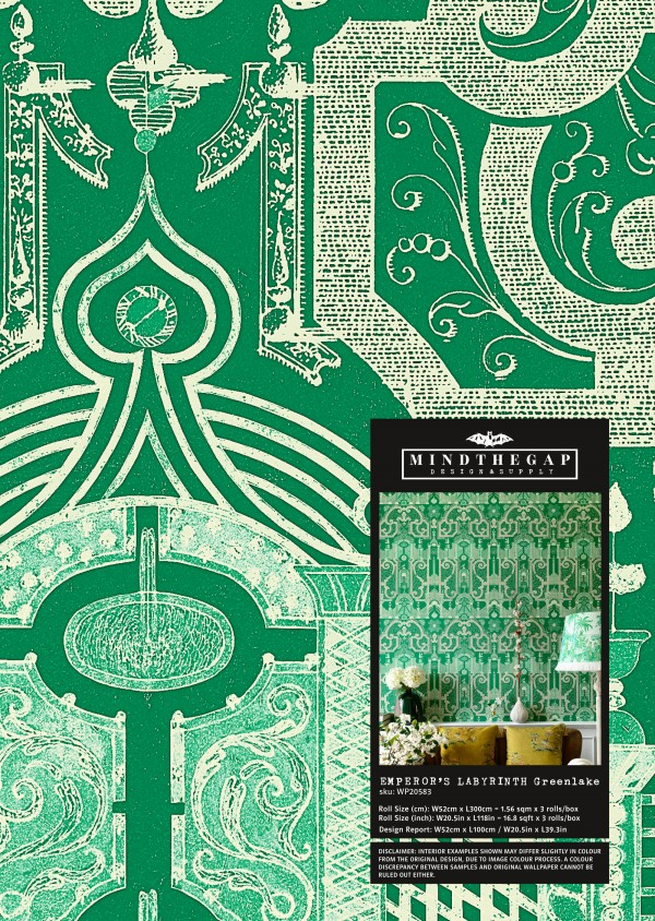 EMPEROR'S LABYRINTH Greenlake Wallpaper Sample