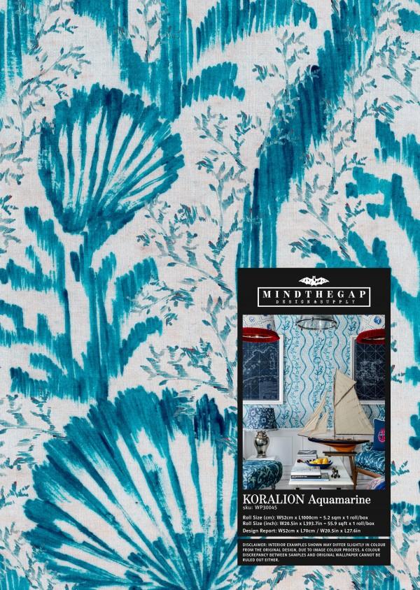 KORALION Aquamarine Wallpaper Sample