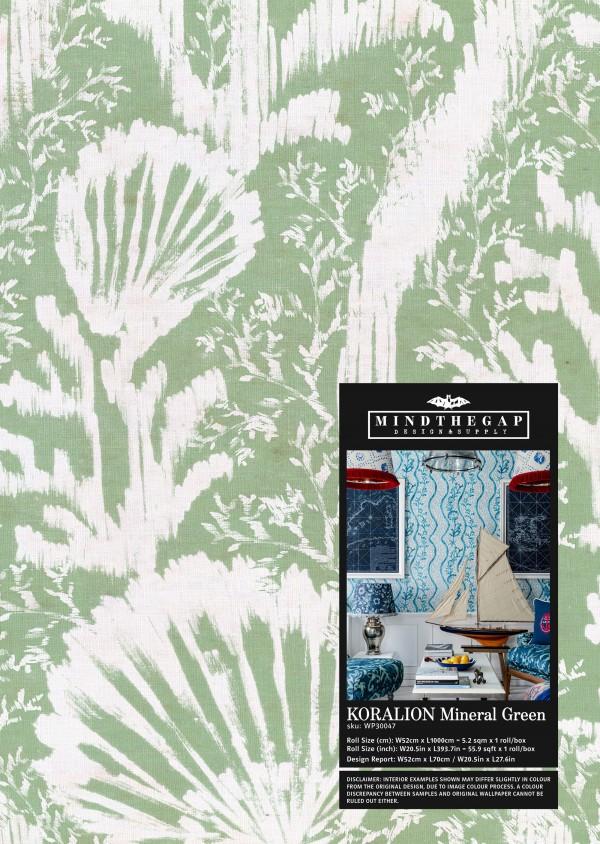 KORALION Mineral Green Wallpaper Sample