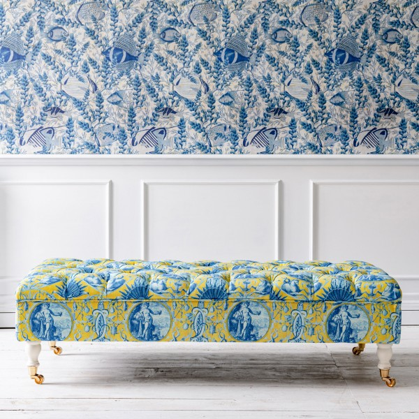 SARAY Ottoman - CALYPSO Fabric