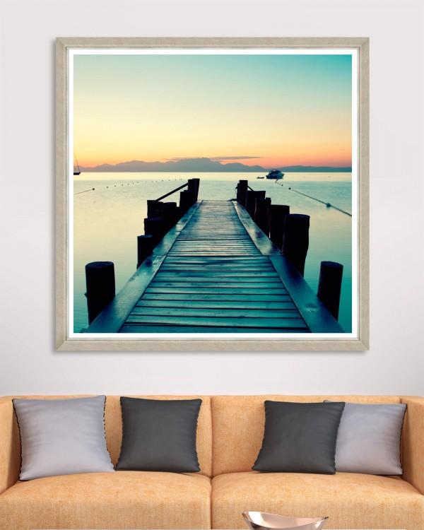 SUNSET PIER Framed Art