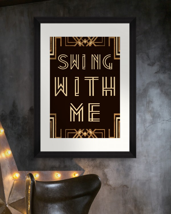 SWING WITH ME Framed Art