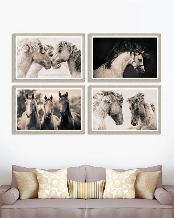 TENDERNESS Set of 4 Framed art