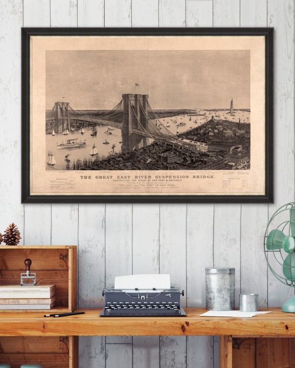 THE GREAT SUSPENSION BRIDGE Framed Art