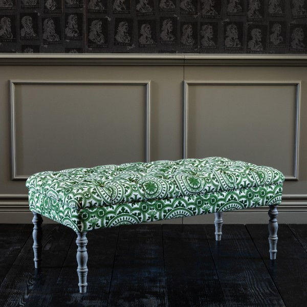 EDWARD Ottoman Tufted Bench - THE MANOR Linen