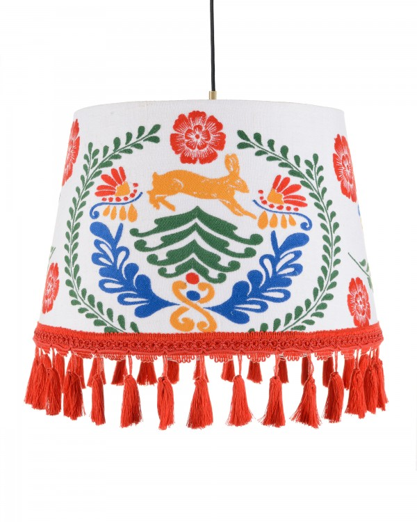 THE HARE Embroidered Pendant Lamp