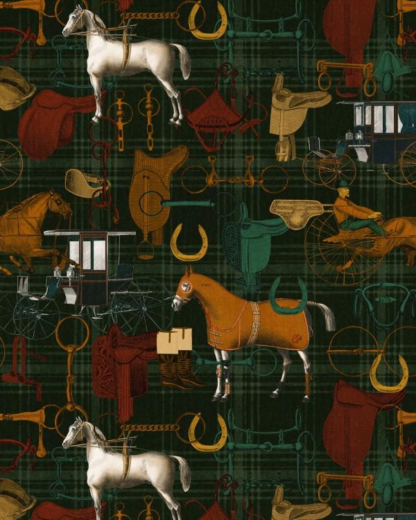 THE JOCKEY Multicoloured Wallpaper