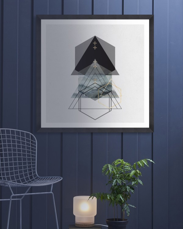 TRIANGLES II Framed Art