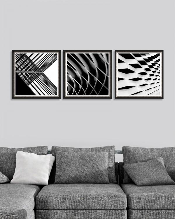 URBAN GEOMETRY Set of 3 Framed art