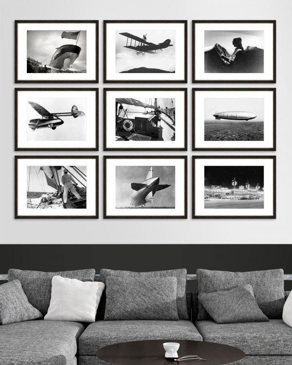 VINTAGE TRANSPORT Set of 9 Framed art