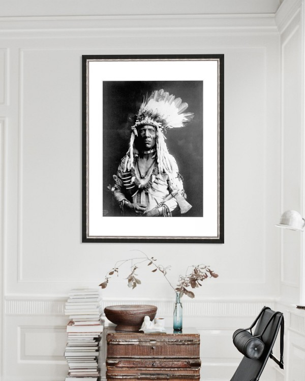 WEASEL TAIL BY EDWARD CURTIS Framed Art