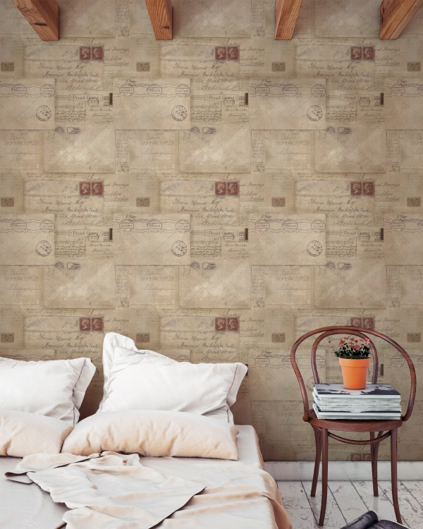 VINTAGE LETTERS Premium Wallpaper