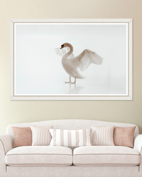 WHITE BEAUTY Framed Art