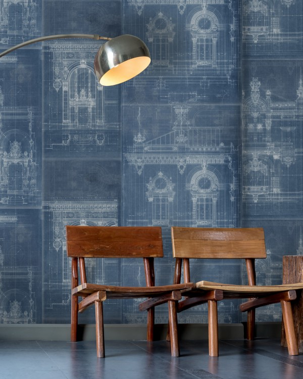 GARNIER Blue Wallpaper