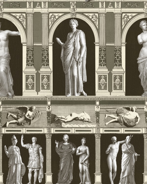 STATUES ANTIQUE Taupe Wallpaper