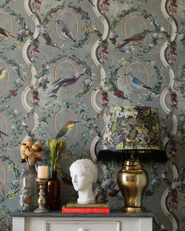 COUNTESSE'S AVIARIUM Neutral Wallpaper