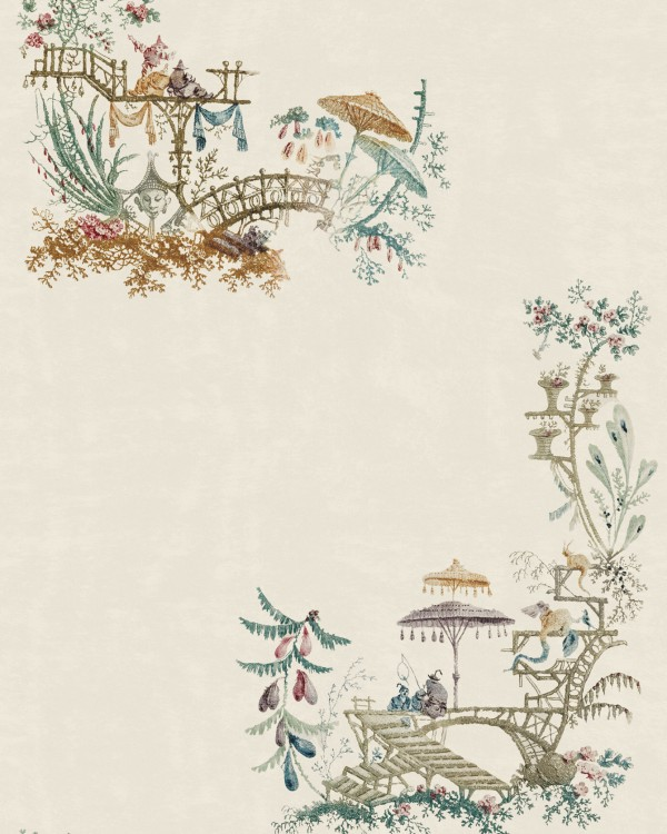 CHINOISERIE Coconut Wallpaper