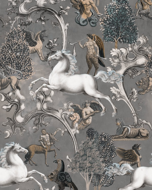 IMAGINARIUM Grey Wallpaper