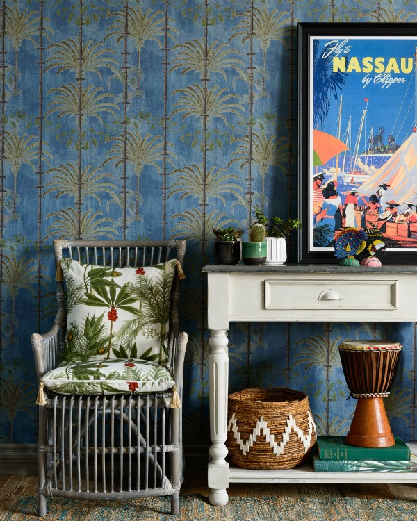 HAVANA Regatta Blue Wallpaper