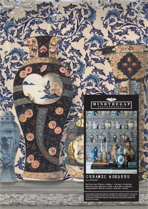 CERAMIC WONDERS Wallpaper Sample