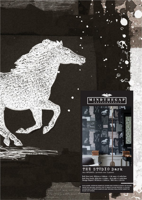 THE STUDIO Dark Wallpaper Sample