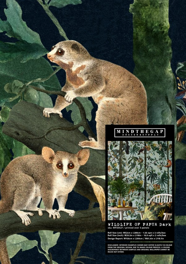 WILDLIFE OF PAPUA Dark - Wallpaper Sample