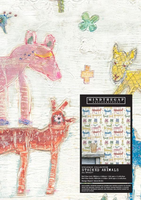 STACKED ANIMALS Wallpaper Sample