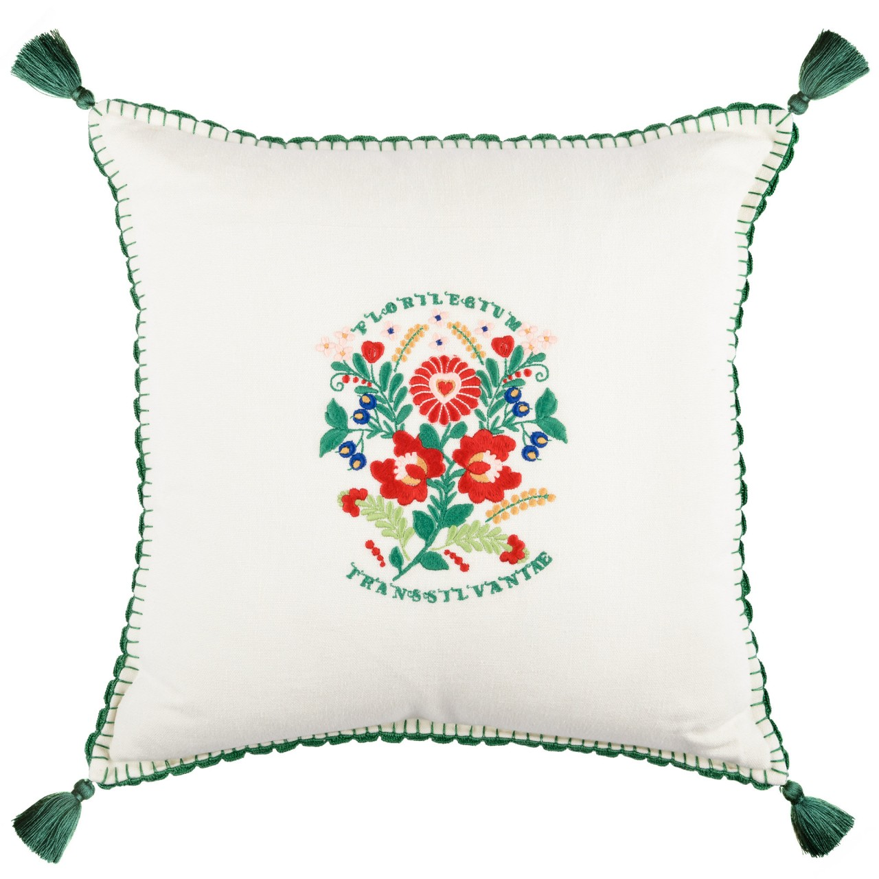 TRANSSILVANIAE FLORILEGIUM Linen Embroidered Cushion
