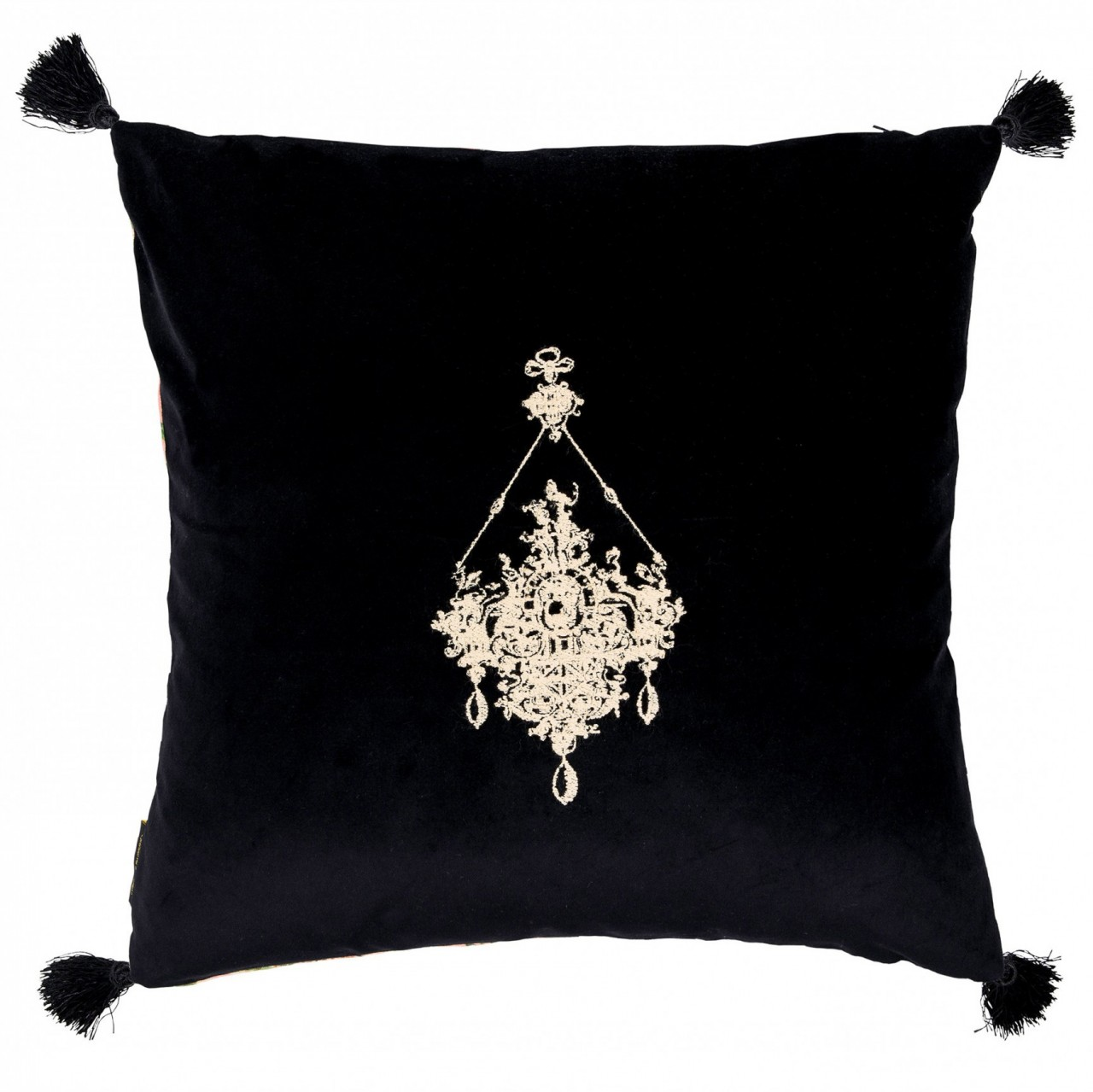 GEMME EMBROIDERY Velvet Embroidered Cushion