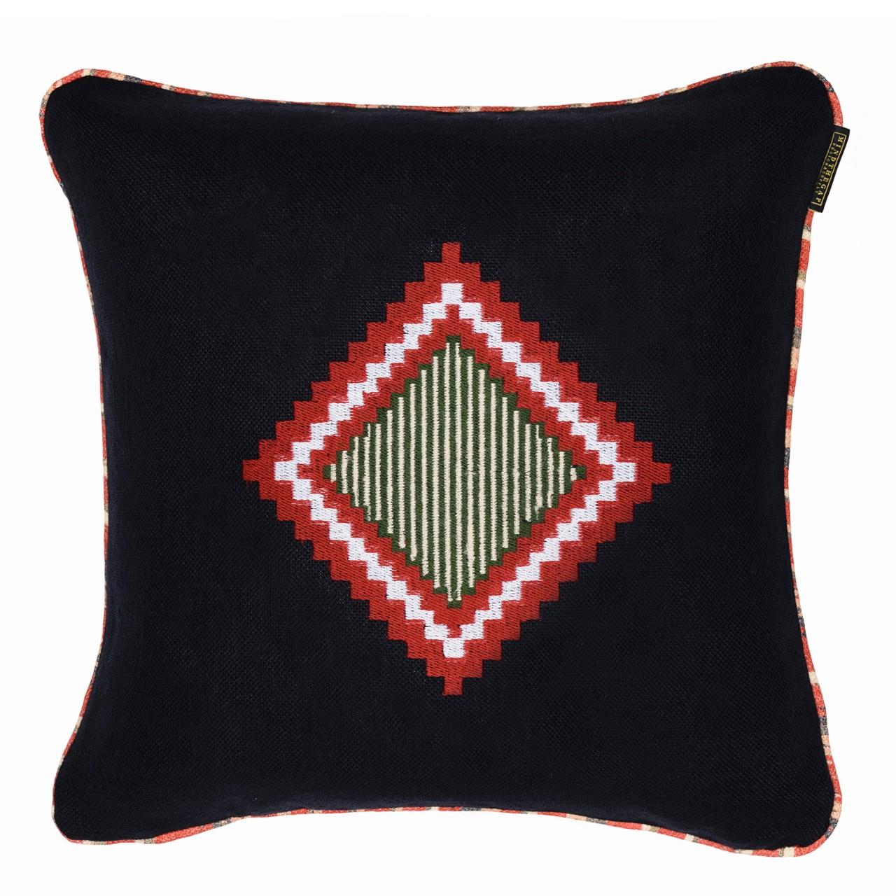 MOKI Linen Embroidered Cushion