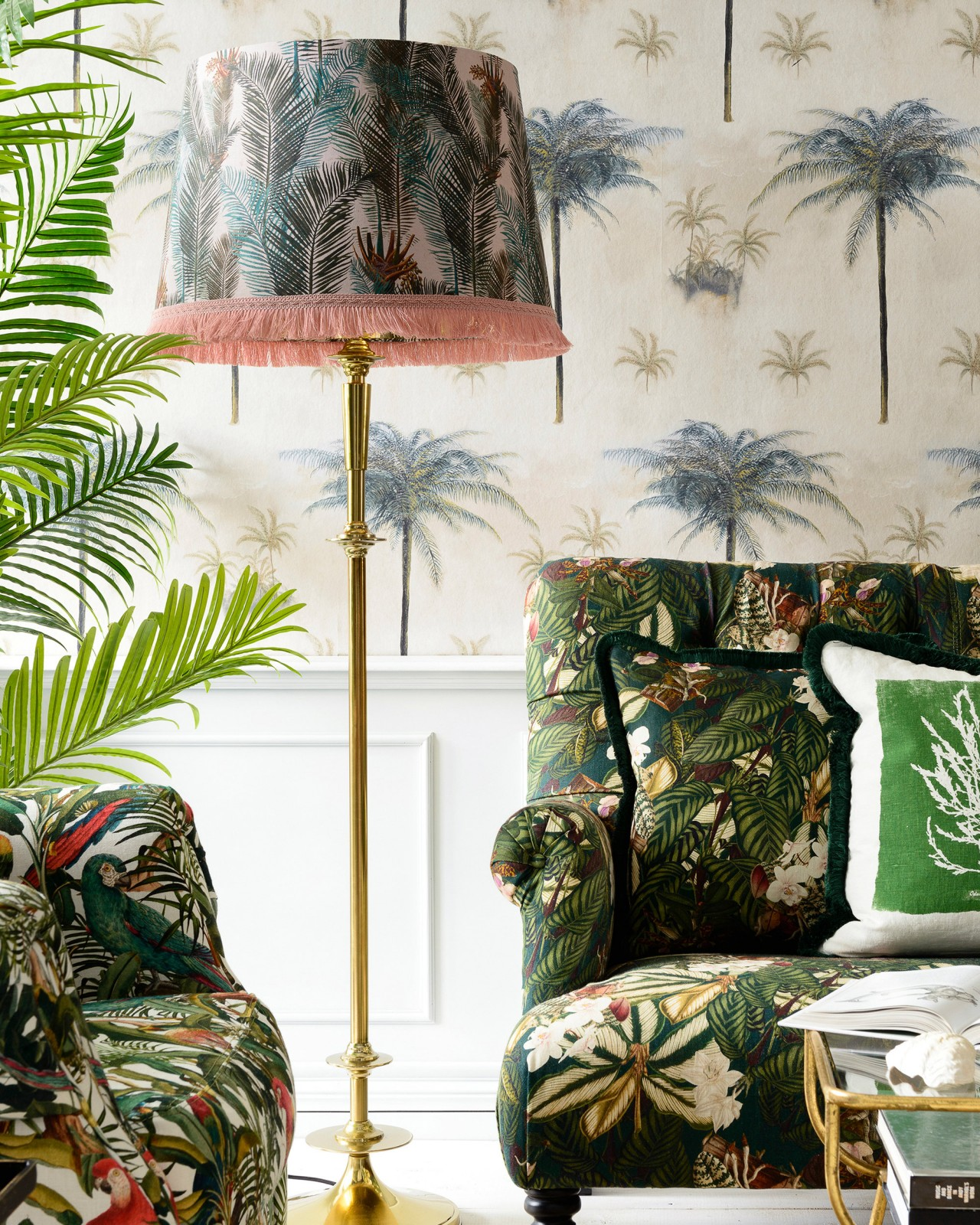 PALM LEAVES REGENCY Floor Lamp