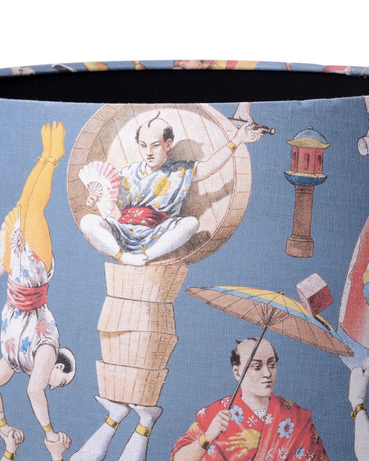 ASIAN CIRCUS Blue Lampshade