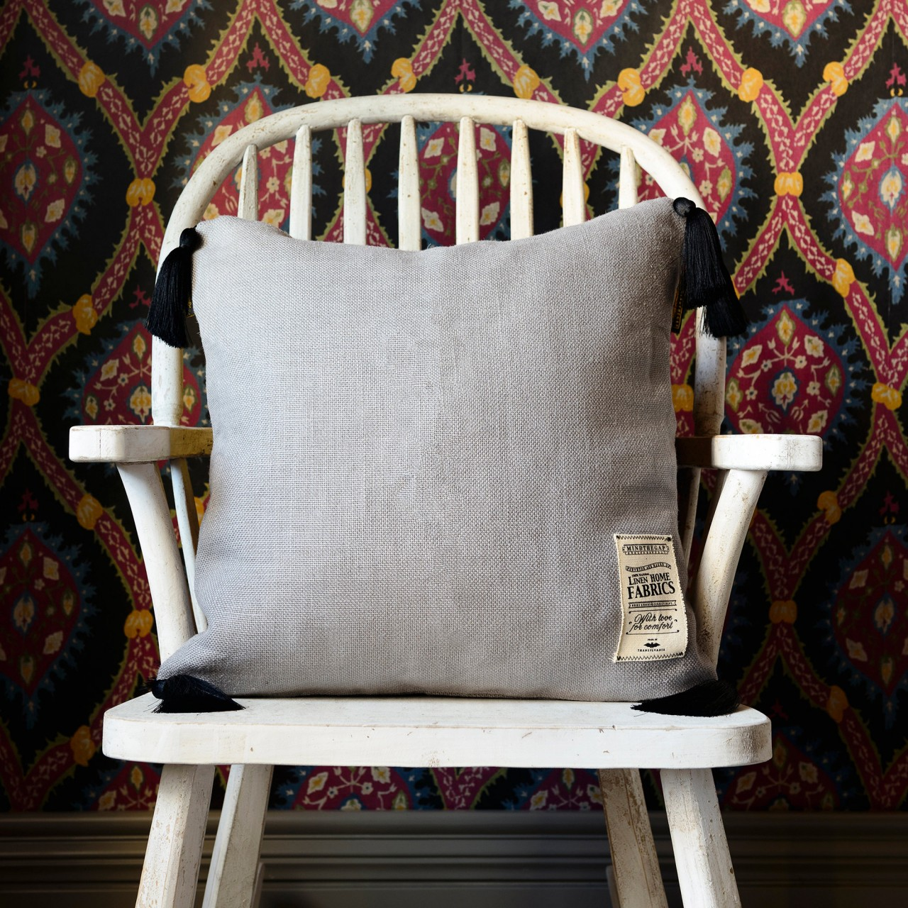 FROST GREY Linen Cushion