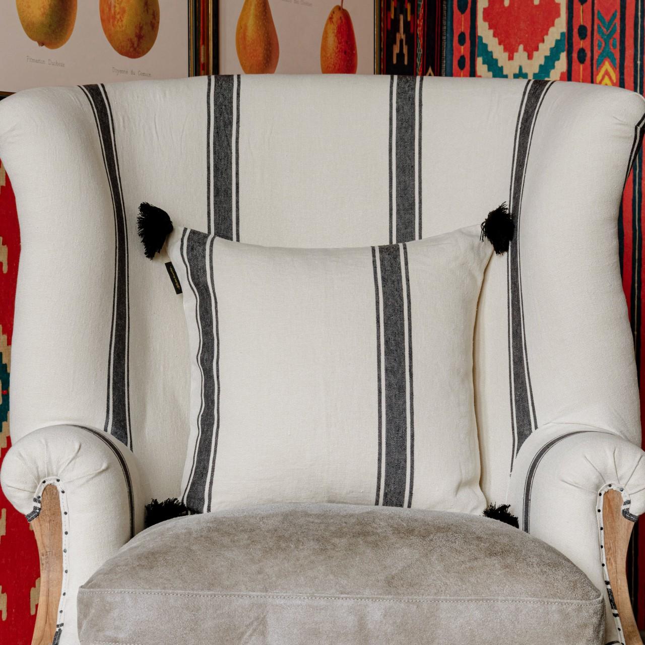 HAJDU Stripe Heavy Linen Cushion