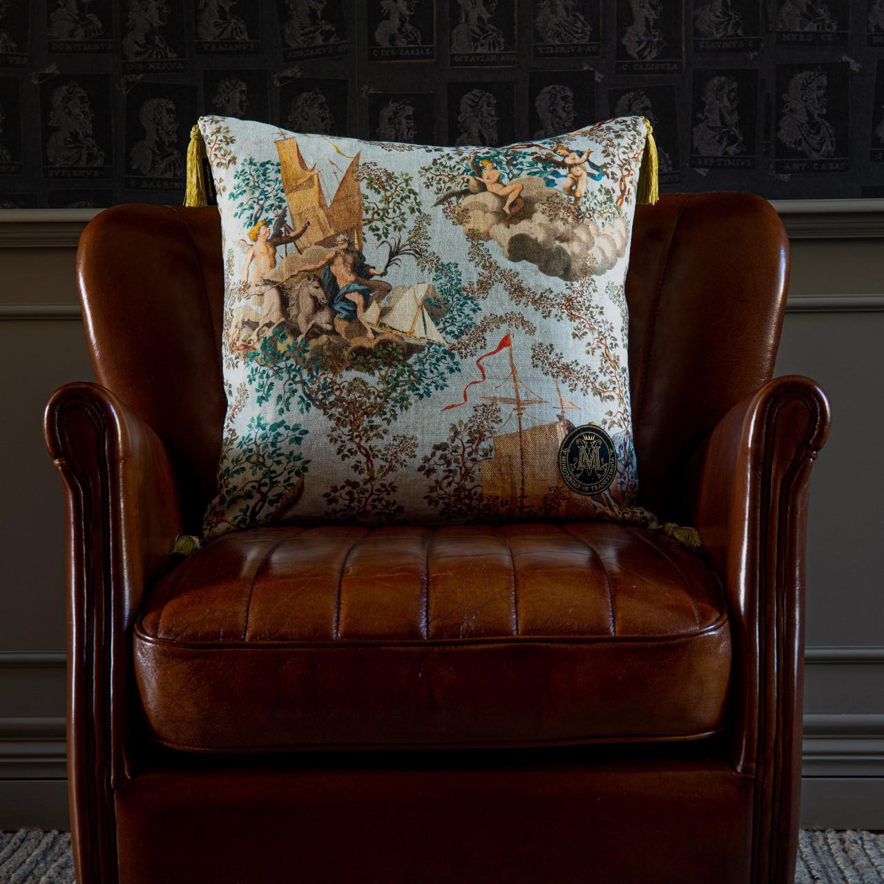JOURNEY TO EDEN Linen Cushion